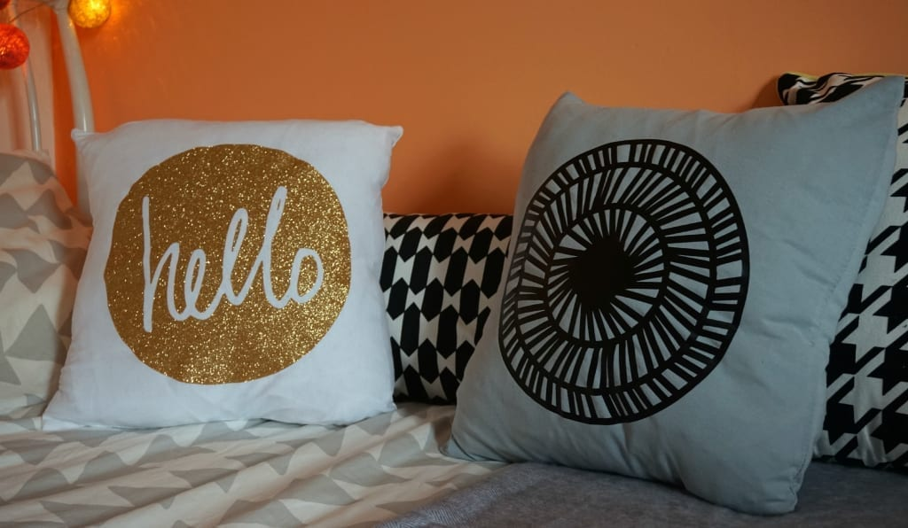 Cricut designed cushions