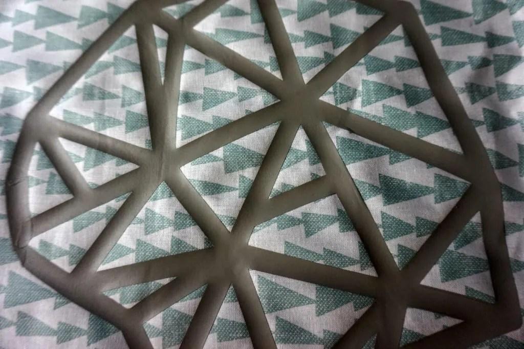 Cricut iron on geometric shape