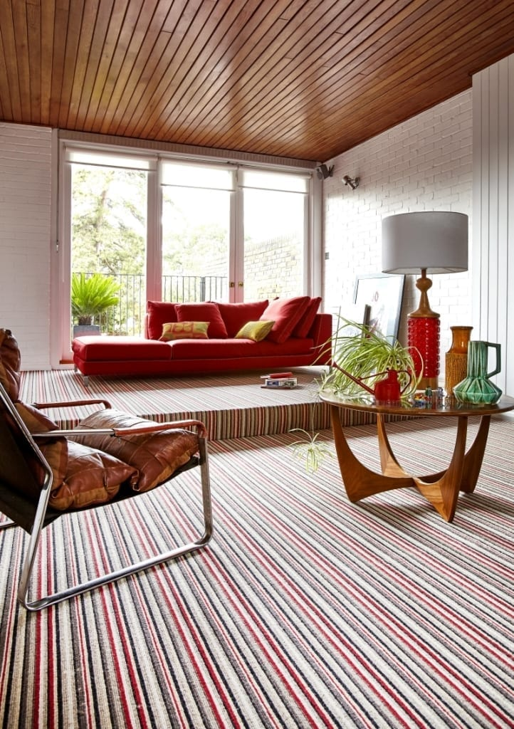 Camden Scarlet Stripe Carpet (1)