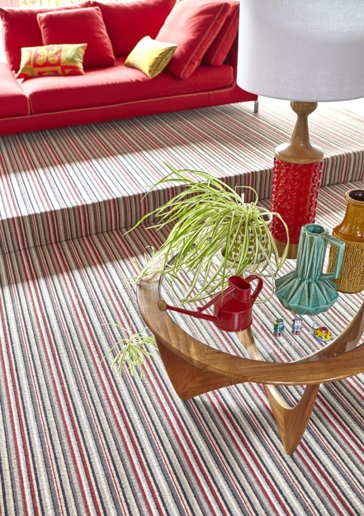 Camden Scarlet Stripe Carpet (2)