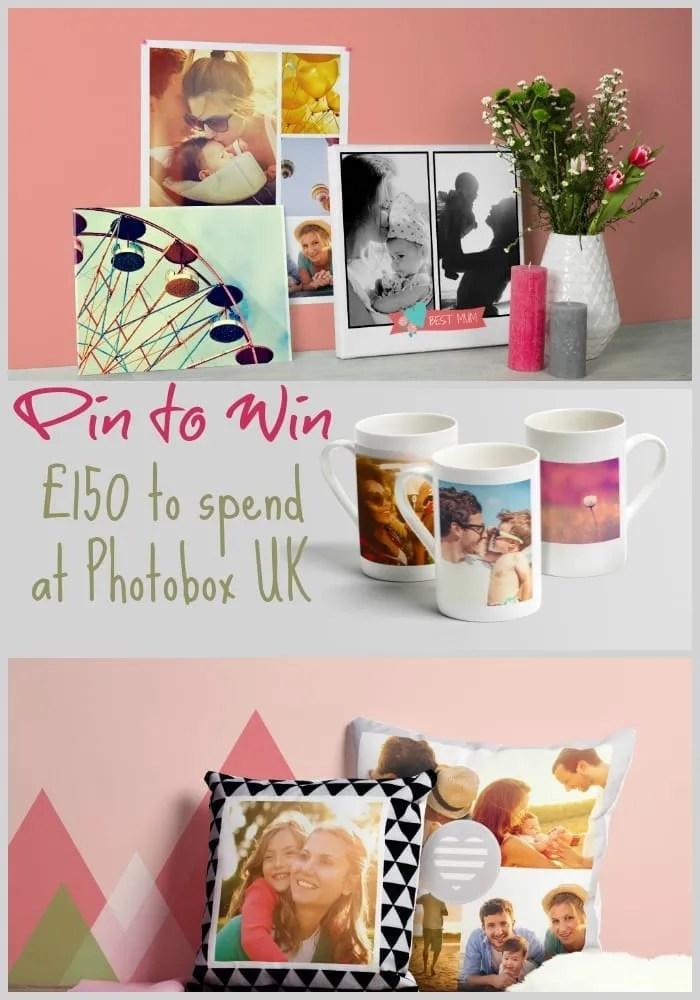 Win £150 to spend at Photobox UK