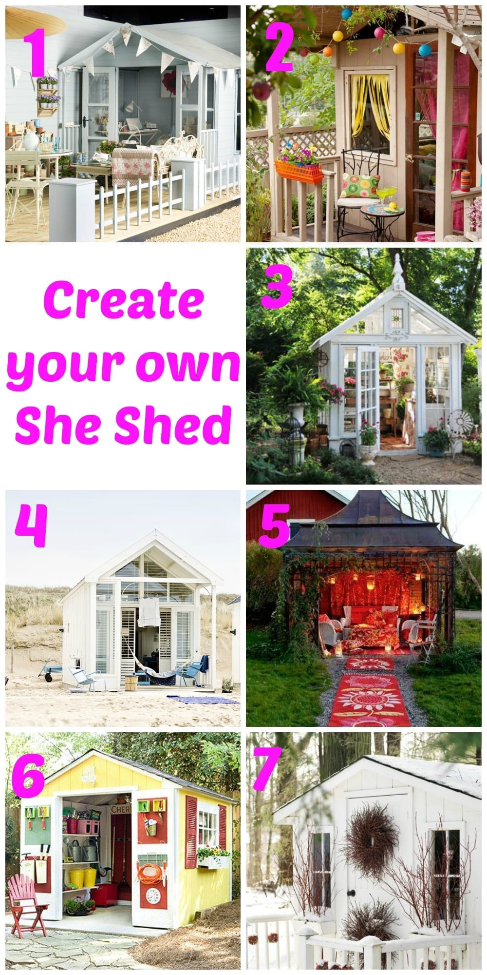 Create your own she shed love chic living for Design your own barn