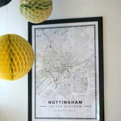 Wallpaper Ideas For Living Room Feature Wall Design Your Own Mapiful: Personalised Map Posters - Love Chic