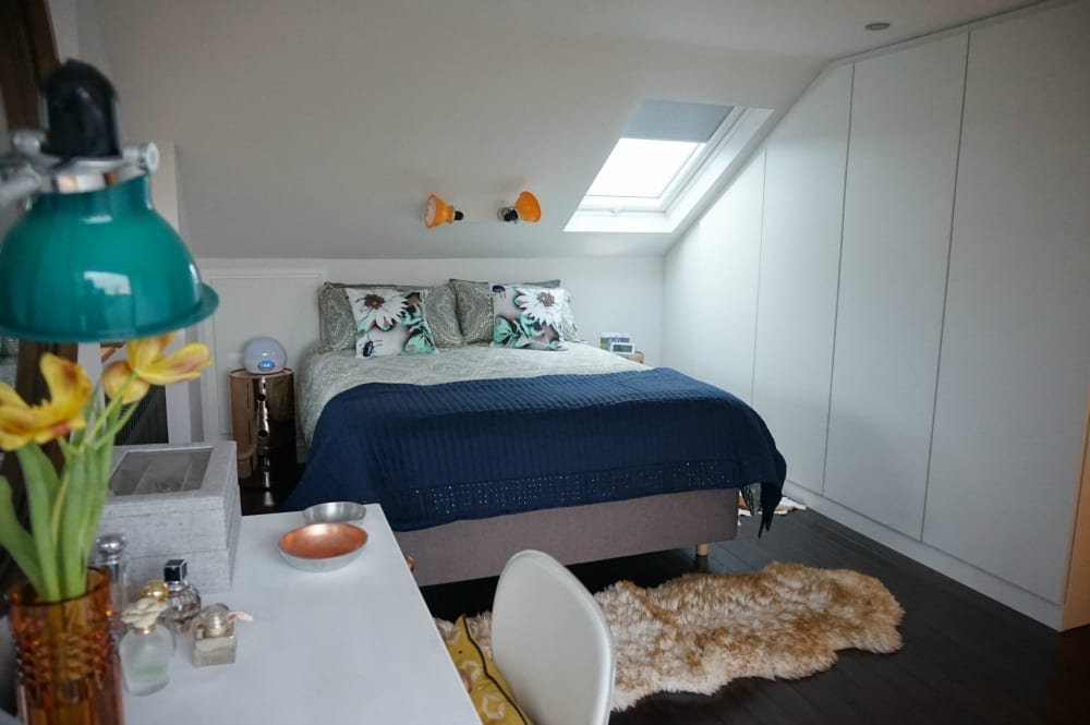 Attic conversion bedroom