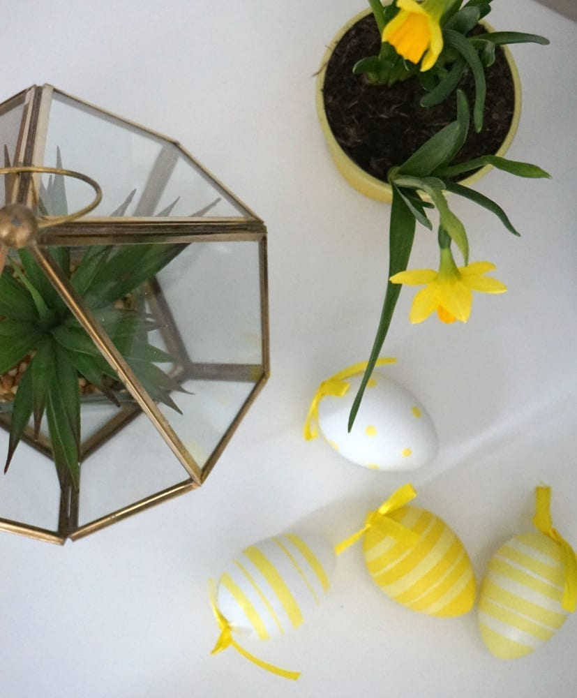 Easter decor styling