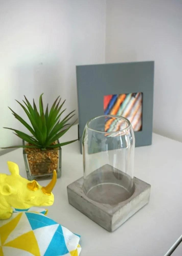 Clas Ohlson concrete candle holder