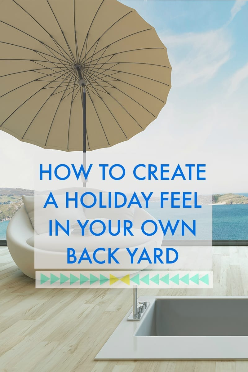 Have you returned from your holiday only to wish you could hang onto that feeling of calm and relaxation? Do you long to recreate that holiday look in your own backyard? If so, click through for my tips and ideas on how to make the most of your back garden space to give it a holiday feeling all year round.