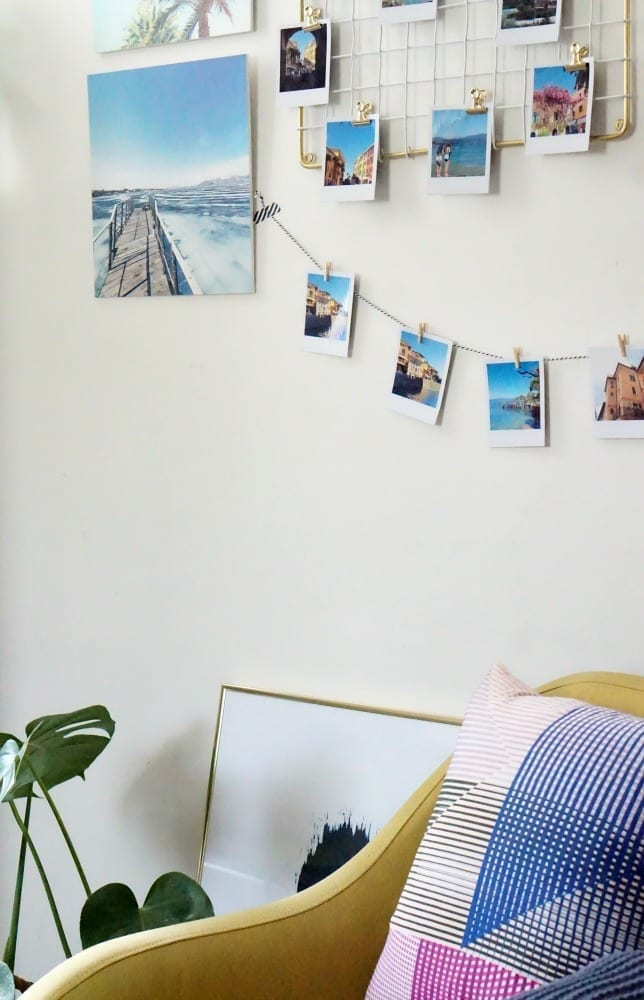 There's something so unique and personal about creating a photo wall collage using your own photos. And there are lots of ways you can do this. From using retro prints, hanging them on string, adding to a noticeboard and more. Be creative when making your wall displays, wall collages and photo walls, let your imagination run wild.