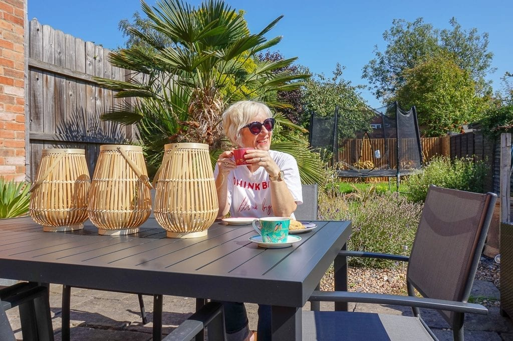 It comes in the form of a 160cm long table and 6 stackable chairs. One  thing I noticed straight away was how light it all is. It's made from high  quality ... - An Indian Summer With Out & Out Garden Furniture - Love Chic Living