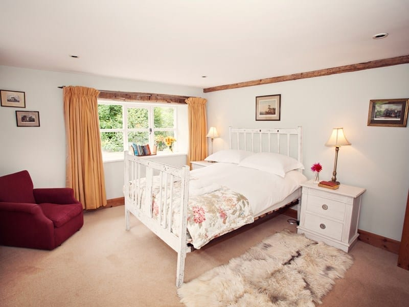 Pretty country cottage bedroom