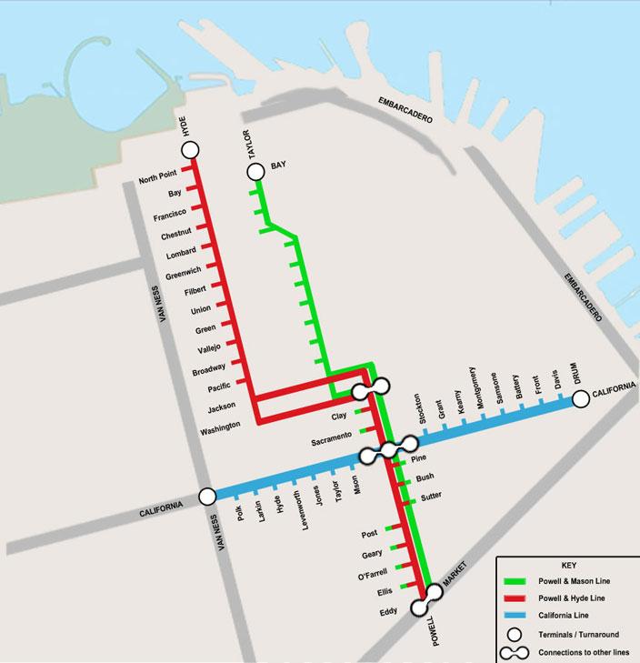 Cable Car San Francisco Map