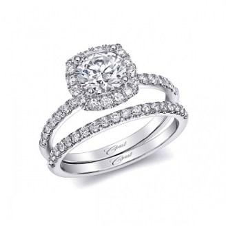 Coast Diamond halo engagement ring LC5409