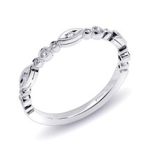 Coast Diamond band WC10183 white gold round and marquise shapes