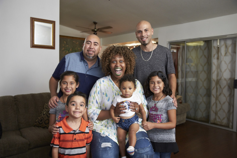 GloZell Babysits for Gay Dads and their Four Kids