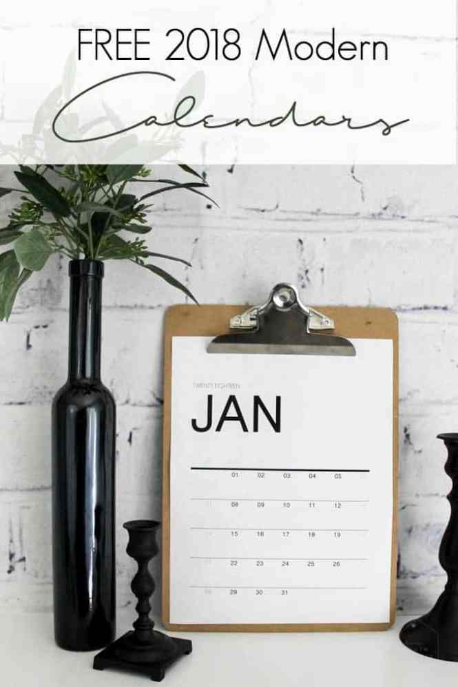 Download free monthly wall calendars! These modern printables will help organize your office, family and life. Love the minimalist style!