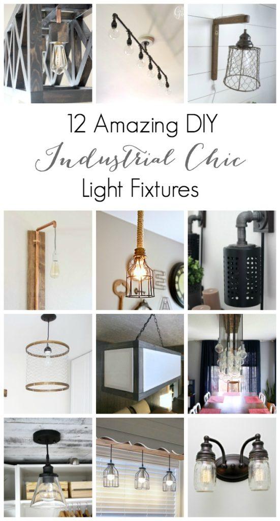 12 Amazing DIY Industrial Chic Light Fixtures