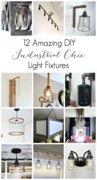 12 Amazing DIY Industrial Chic Light Fixtures - Love ...