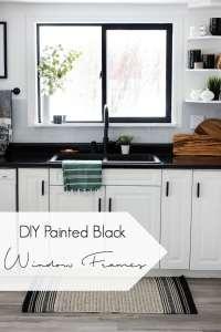 DIY Painted Black Window Frames - Love Create Celebrate
