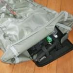 自転車とリュック 荷物の整理に便利なもの見つけた