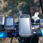 自転車にGoProとスマホを同時装着