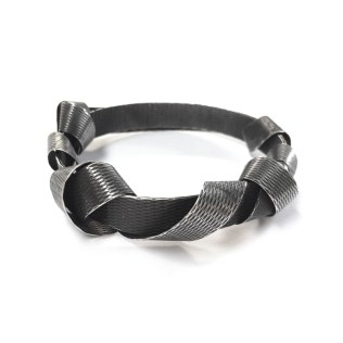 2007: Antonella Giomarelli. Packing tape bangle - oxidised silver