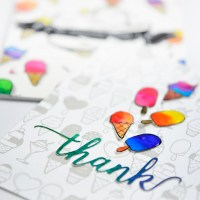 Summery Theme Thank you Card