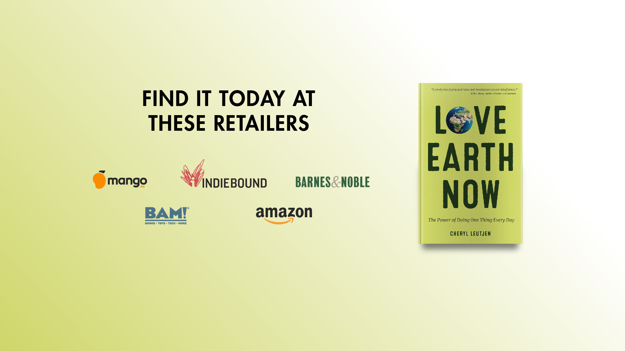 "<em style=""color:ffffff"">Love Earth Now</em><br>is available at these retailers"