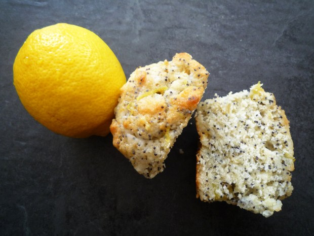 Lemon, poppy seed & pear muffins5