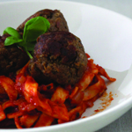 Aubergine meatballs without eggs