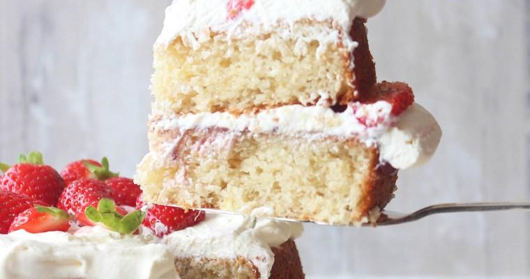 Gluten free eggless lemon and almond cake