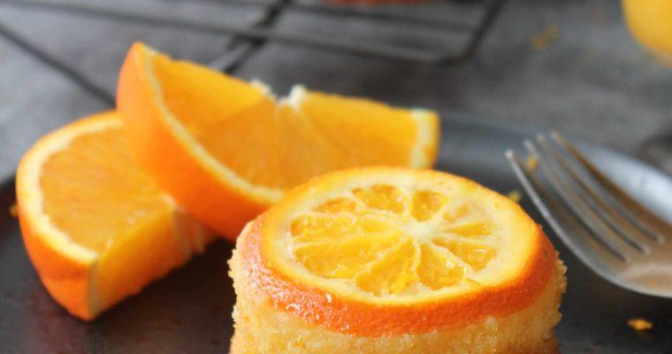 Mini orange upside-down cakes