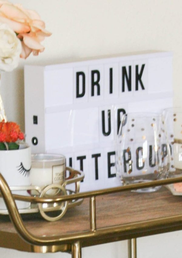 how to: bar cart on a budget