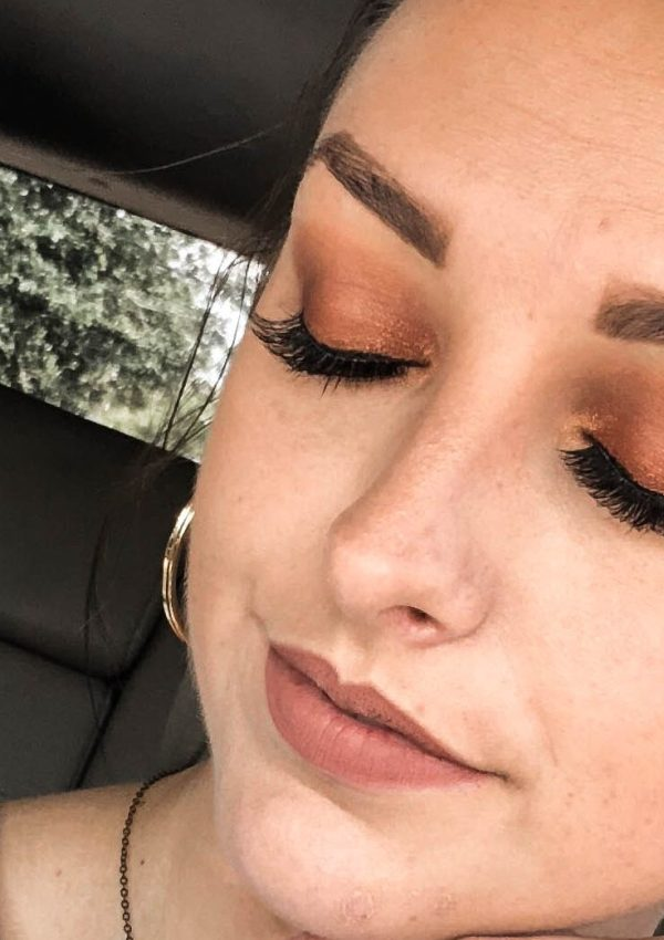 easy rust smokey eye for fall.