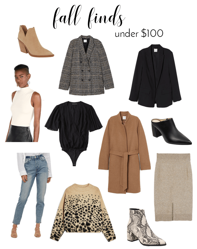 neutral fall fashion finds under $100
