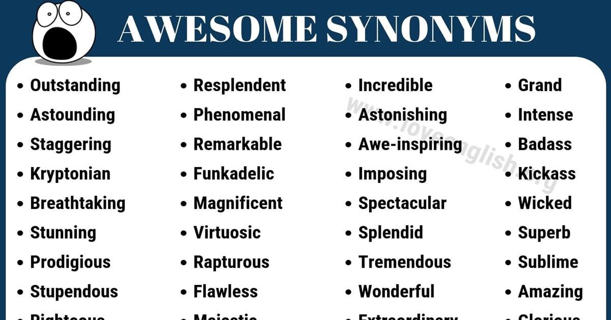 awesome synonym 50 best