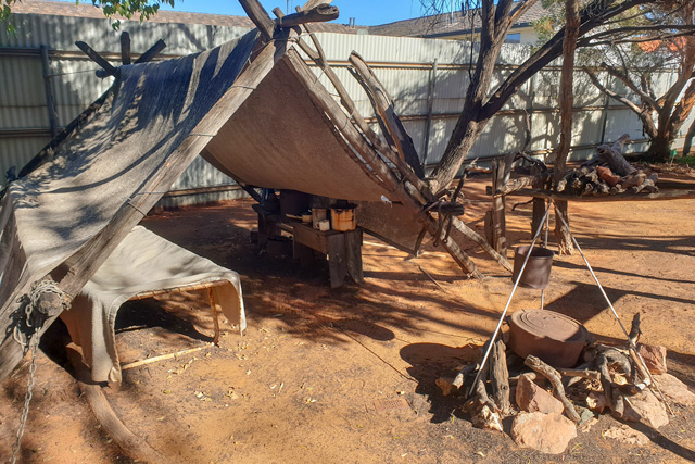 Display of an old miner's camp