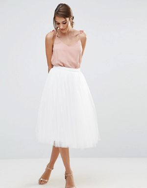 Little Mistress Midi Tulle Prom Skirt