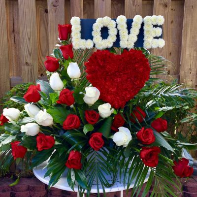 LOVE Flower Arrangment