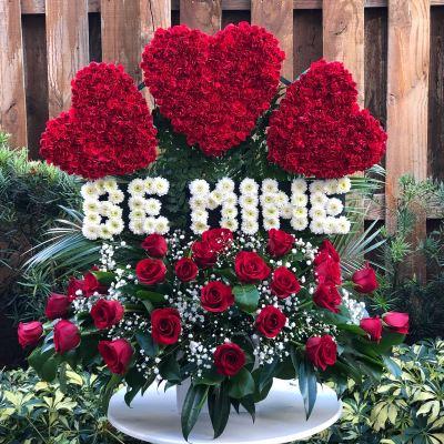 BE MINE – Aprox. 3 Feet Tall Flower Arrangement
