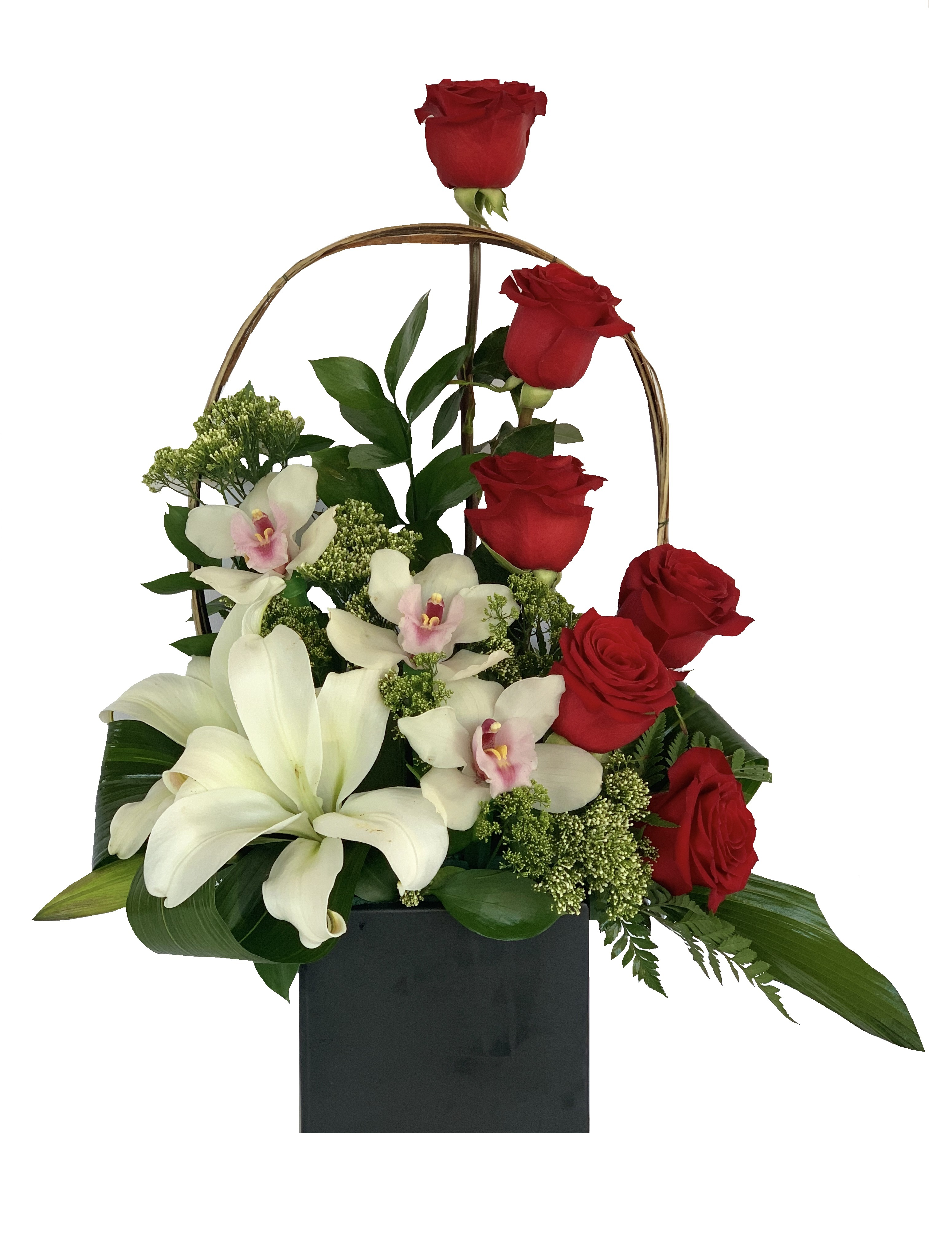 Roses, Orchids And Lilies