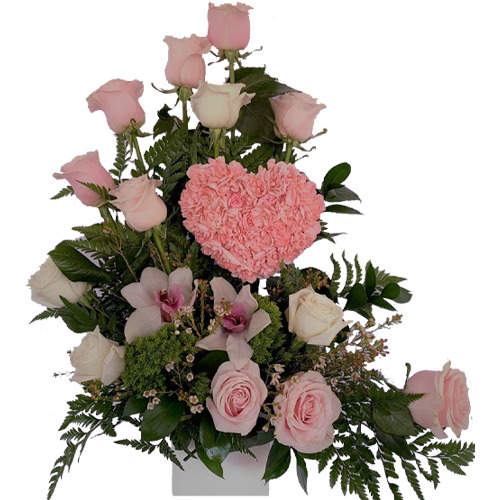 Fabulous Pink Heart Love Flowers