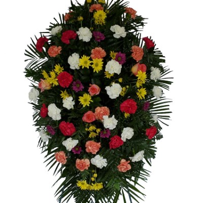 6 Ft. Tall Spring Funeral Spray