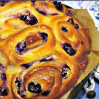 Blueberry Cream Cheese Swirly Bread