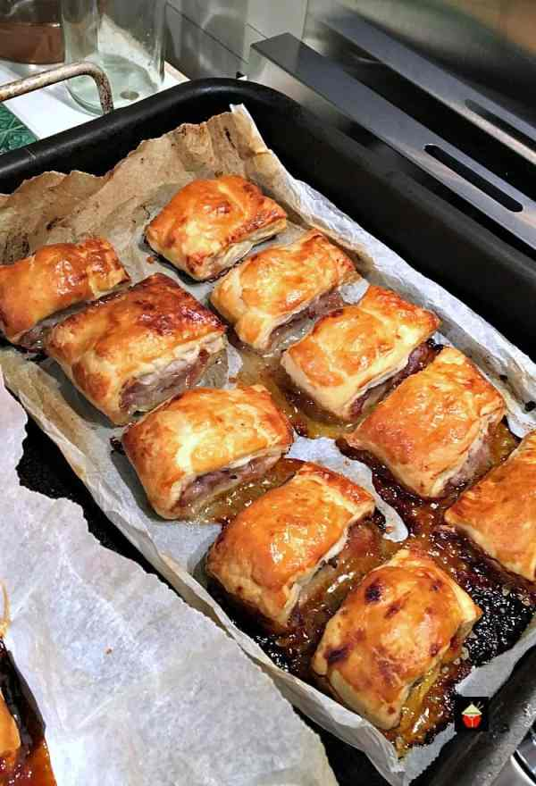 Sausage and Red Onion Chutney Rolls are so delicious! Easy