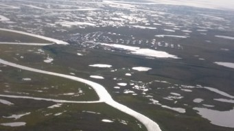 A view of Chevak from the air.