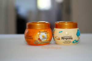 Garnier Respons Argan Oil & Almond Cream and Garnier Respons Marvellous Nectar hair treatment