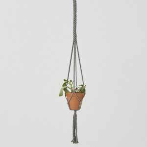 Bluefields Macrame Plant Holder Gray Made in Nicaragua