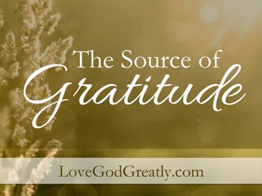 Source of Gratitude