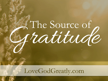 Source of Gratitude