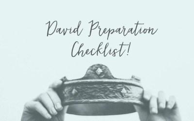 Our DAVID Preparation Checklist!